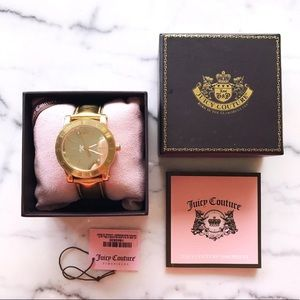 JUICY COUTURE gold leather watch